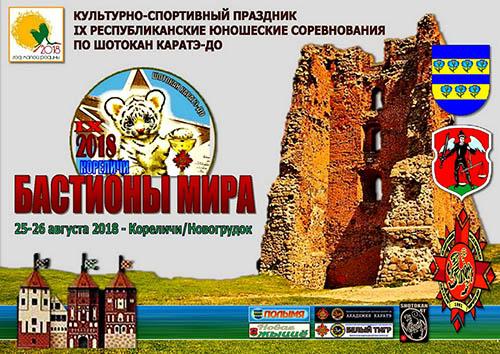 25-26 августа 2018 года, Кореличи, Республиканские соревнования «Бастионы мира».