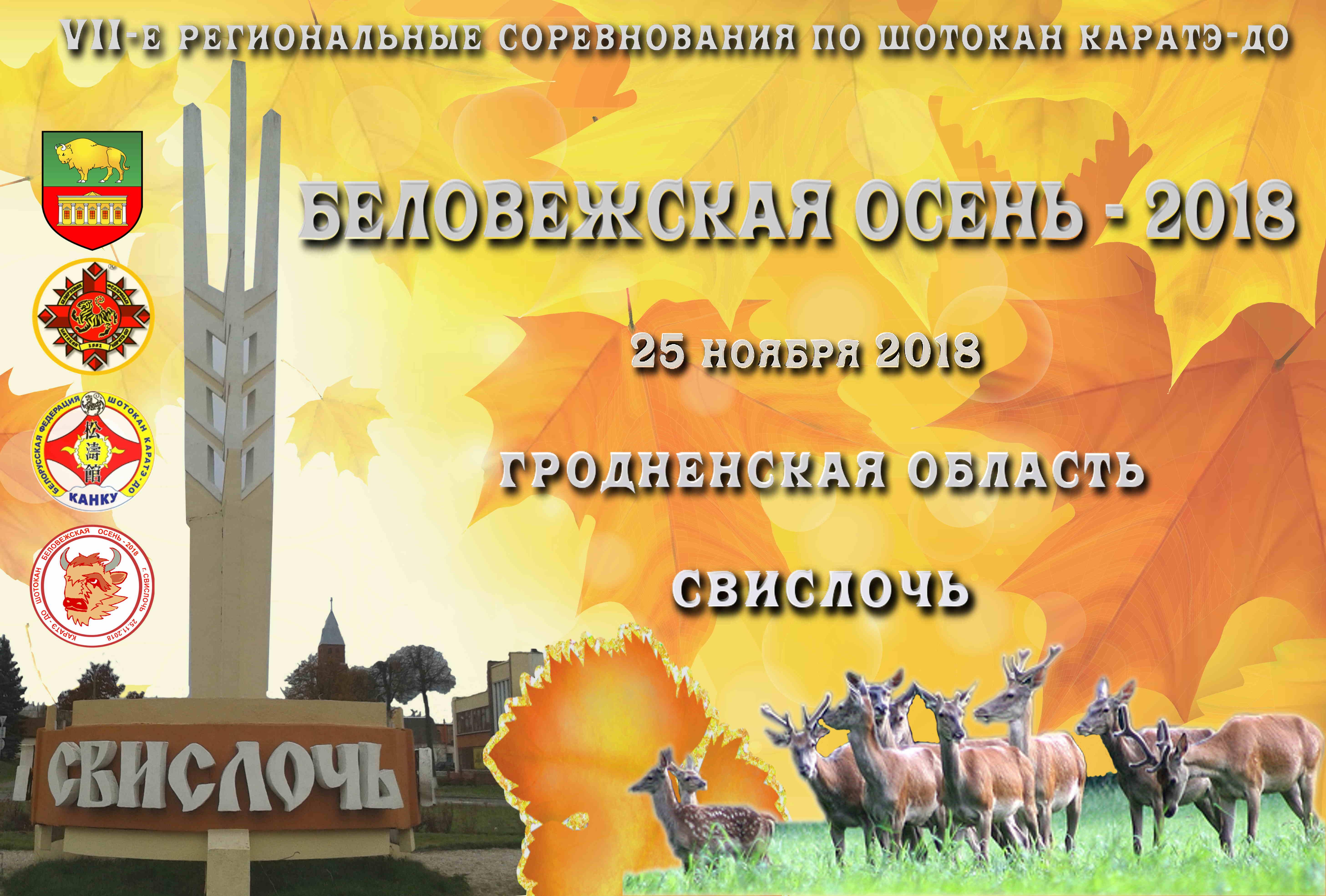 25 НОЯБРЯ, СВИСЛОЧЬ:   Беловежская осень-2018